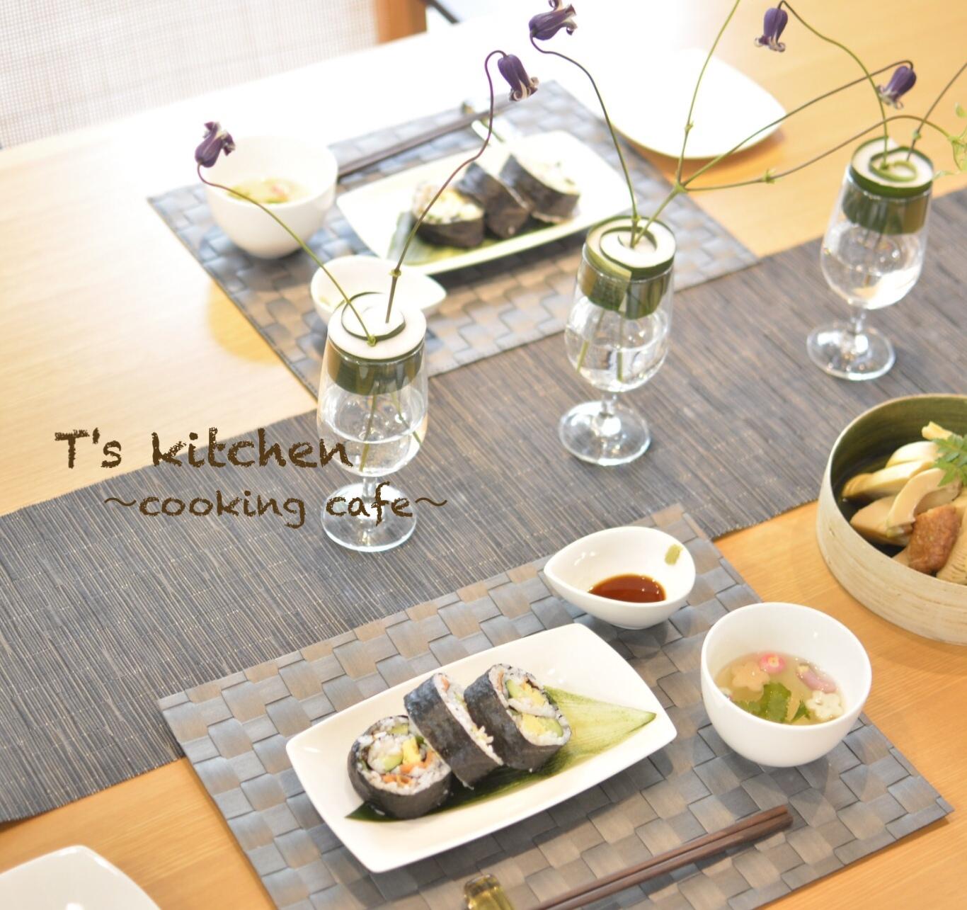 彩り太巻き寿司&太巻きグラス(フラレピ)