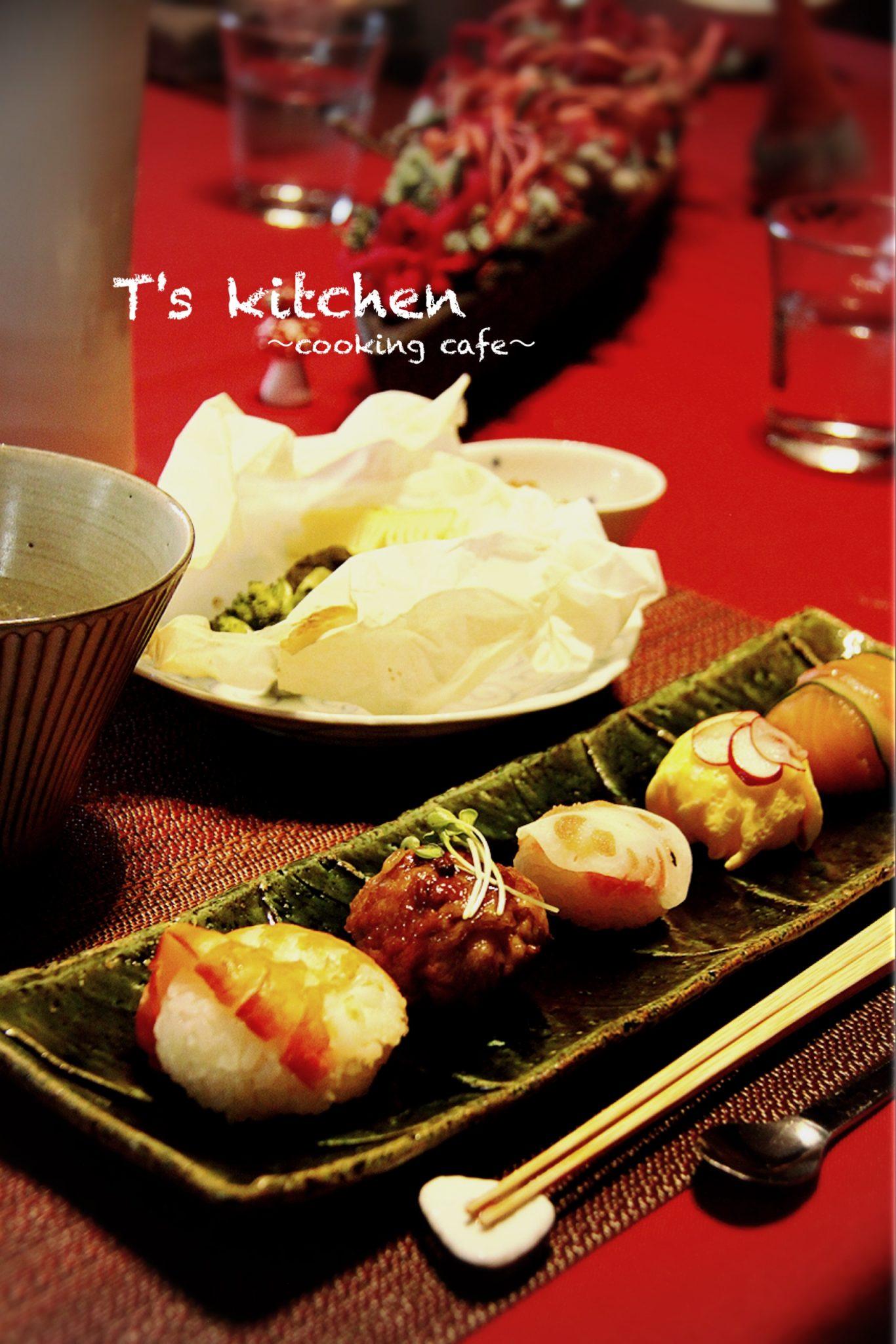 手毬寿司5種
