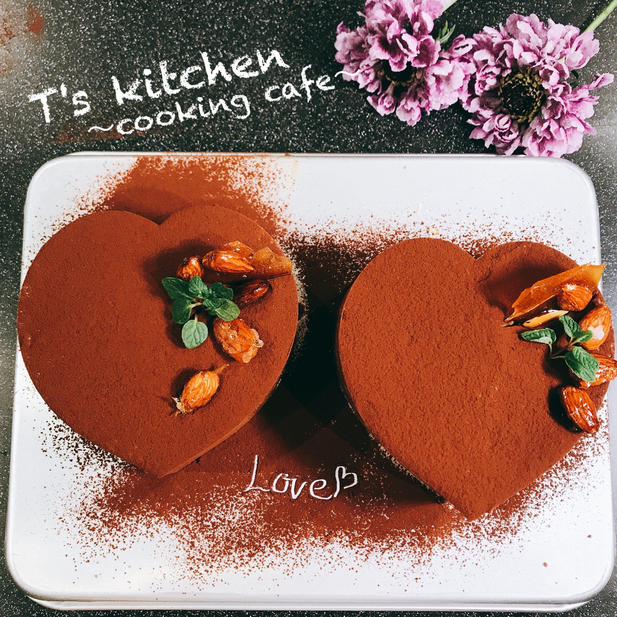 ハートのチョコレートムースW